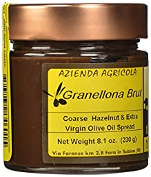 Il Colle Del Gusto Coarse Hazelnut Chocolate Spread with Extra Virgin Olive Oil, Granellona Brut, 8.1 Ounce
