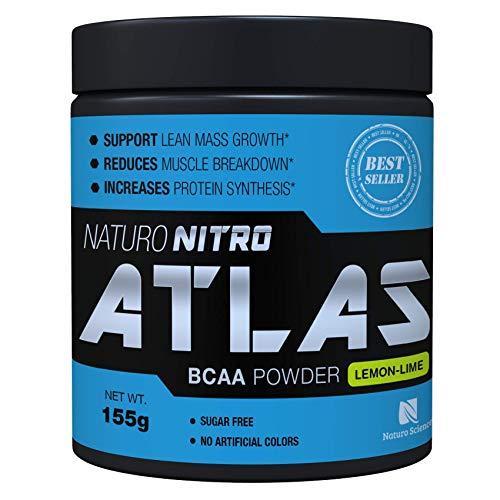 (Naturo Nitro Atlas, BCAA Instantized Powder, Best Branched Chain Amino Acids, 28 Servings, 5.5g Per Serving, Lemon Lime Flavor)