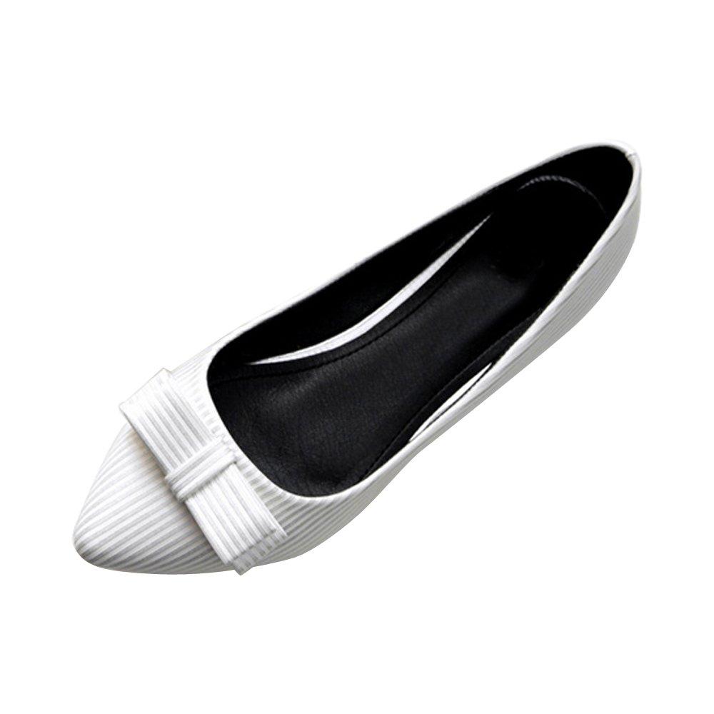 OCHENTA PU Femme Ballerines Plate Plate Rayure en B00IP0QEL6 PU Mode Poiture 34-45 Chaussures Blanc e8e8a87 - fast-weightloss-diet.space