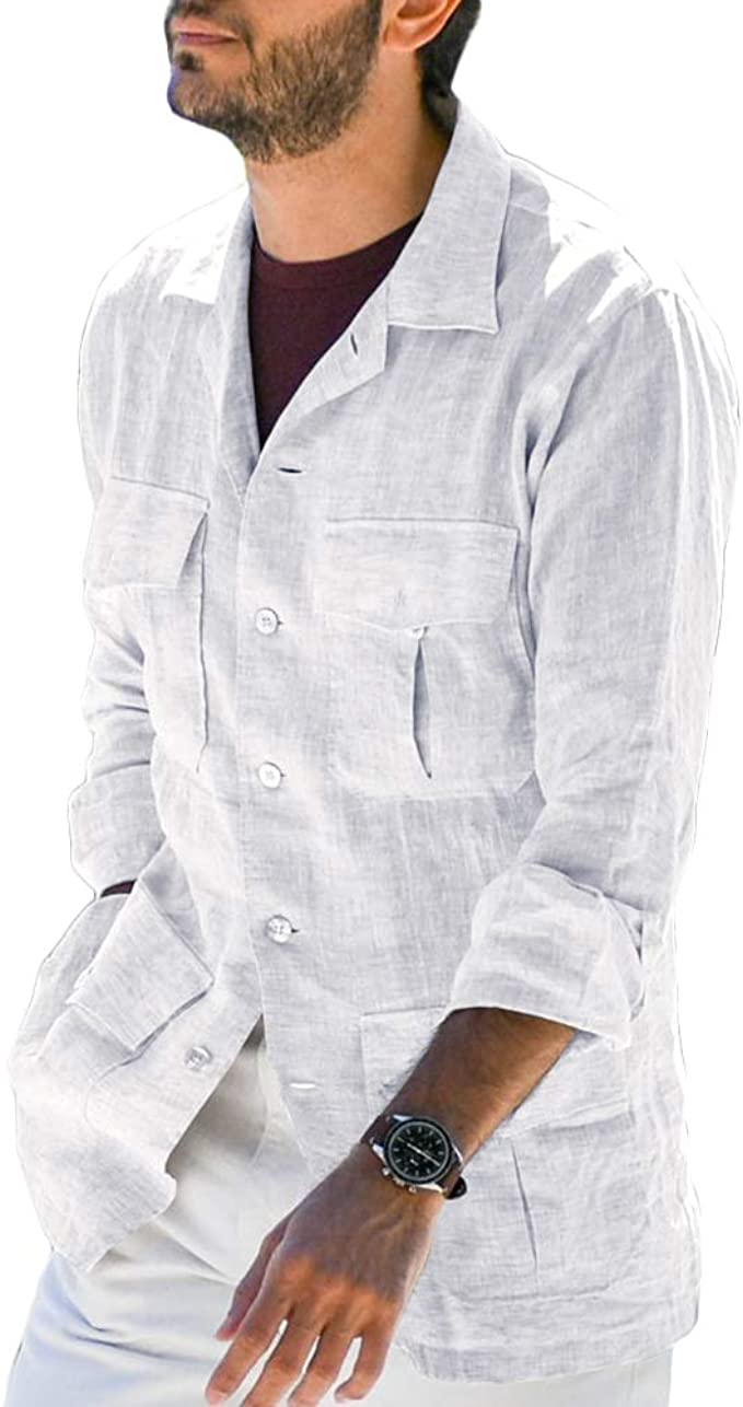 Hestenve - Camiseta de manga larga para hombre, diseño de campamento cubano