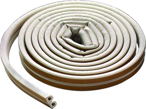 M-D Building Products 63628 M-D All Climate D Profile Weather-Strip, 5/16 in W X 17 Ft L X 0.3125 in H, White
