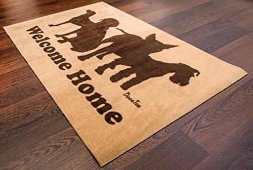 (Doortex Indoor Entrance Mat, Welcome Mat with Dog Design, Rectangular, 24