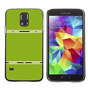 Caucho caso de Shell duro de la cubierta de accesorios de protección BY RAYDREAMMM - Samsung Galaxy S5 SM-G900 - Abstract Plastic Minimalist Lines