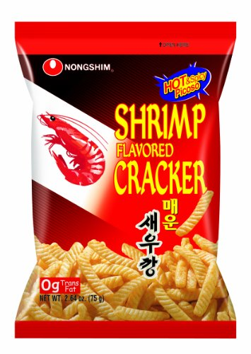NongShim Snack Spicy Shrimp Crackers, 2.64 Ounce (Pack of 12)
