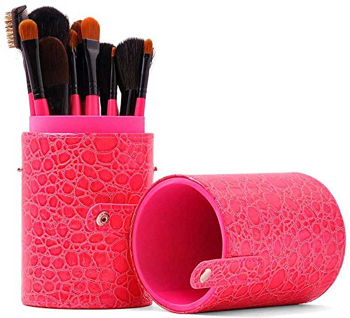 Professional 16 PCS Pink Cosmetic Makeup Brush Set With - Import It All