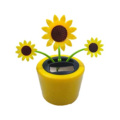 Ouniman Dancing Solar Toys, 26 Styles Solar Dancing Flower Cactus Solar Powered Toys Car Swinging Dancing Toy Car Windowsill Decoration Holiday Car Dashboard Office Home Desk Decor (U): Home & Kitchen [5Bkhe1703961]