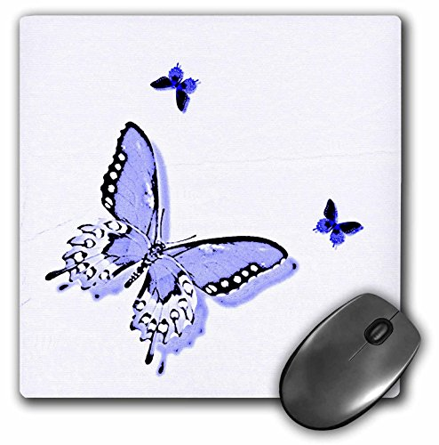 Art Butterfly Trio (3dRose Patricia Sanders Creations - Lavender and Purple Butterfly Trio Art Nature Designs - MousePad (mp_31393_1))