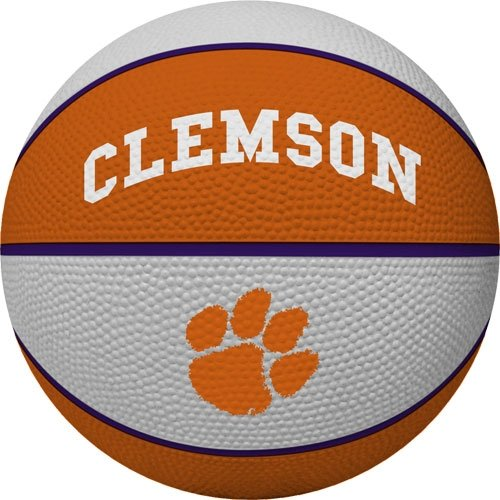 NCAA Clemson Tigers Alley Oop Dunk Basketball by Rawlings (University Clemson Basketball)