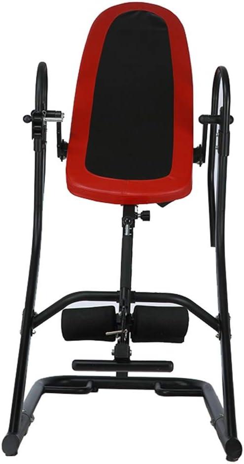 逆さぶら下がり 倒立マシンホームフィットネス機器腰椎頸椎ストレッチ上下逆さま 腹筋トレーニング 健康 (色 : 赤, サイズ : 115*70*160cm) 赤 115*70*160cm