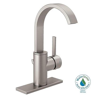 Delta Mandolin 4 in. Centerset Single-Handle Bathroom Faucet in ...