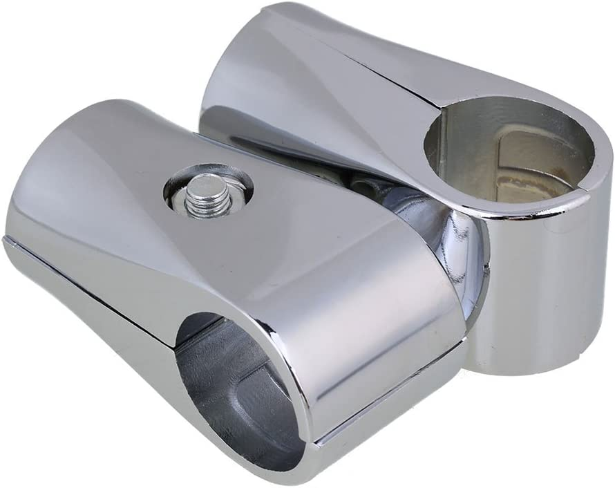 Color Plateado Yibuy Conector de Tubo de Aluminio para Tubo Redondo DE 25 mm