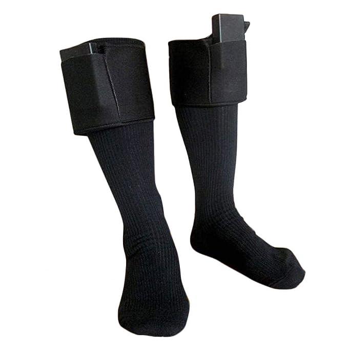 Calcetines Calentados Calentar Calentadores de pies Eléctrico Calentamiento para la bota de pesca de hielo de