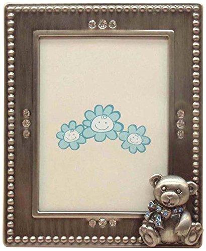 Fei Gifts Teddy Bear Frame, 2 by 3-Inch, Blue