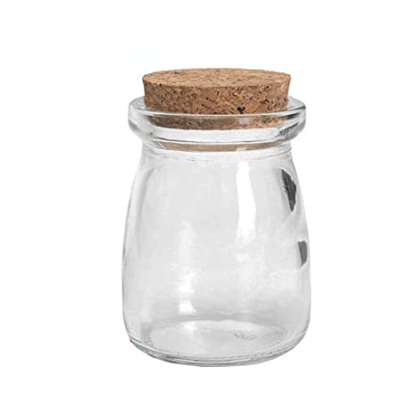 LUFA 100ML botellas de vidrio transparente botellas con tapones de corcho para almacenar dulces Jam Yogur