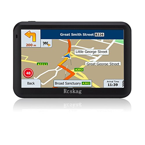 GPS Navigation for Vehicle GPS Navigation for Car-5 inch/8GB-with Built-in Lifetime Maps,Advanced Lane Guidance and Spoken Turn-By-Turn Directions by Rcskag