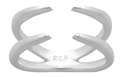 AG2AU Sterling Silver Knuckle Ring HoqFsbT