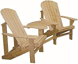 product image for Unfinished Cypress Wood Adirondack Chairs with Center Table Connector