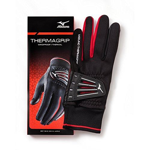Mizuno ThermaGrip Golf Gloves, Black, Large