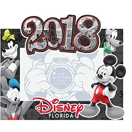 Amazon.com: Disney 2018 Florida Photo Frame Comic Four Mickey Mouse ...