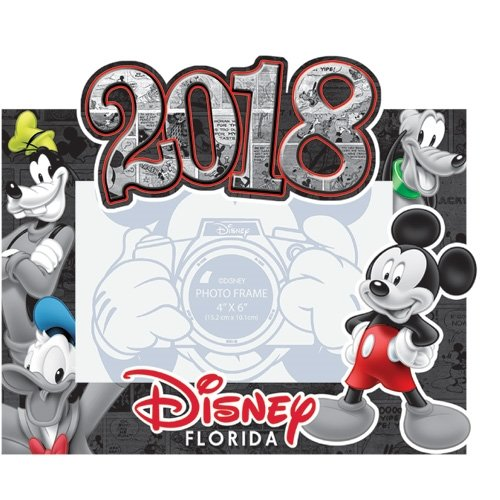 SaveMax Disney 2018 Comic Four Goofy Donald Mickey Pluto 4x6 Picture Frame (Florida Namedrop) by SaveMax
