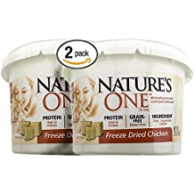 Bundle Pack of 2 Nature's One Natural Freeze Dried Chicken Natural Cat Snack Treats -- Two 2 ounce Tubs for 4 ounces of wholesome Chicken Cat Treats