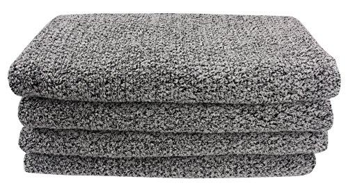 Everplush Diamond Jacquard Bath Sheet 2 Pack in Grey by Everplush
