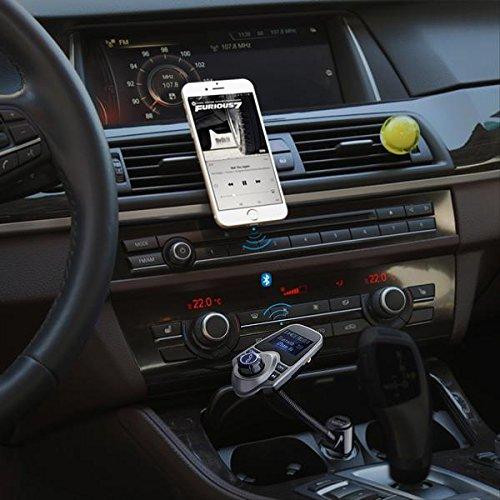 FM Transmitter, Primacc MP3 Player Bluetooth Radio Car Transmitter with Aux Port 6