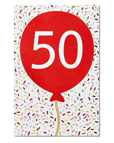 50th Birthday Greeting Cards (American Greetings 50th Birthday Card with Foil)