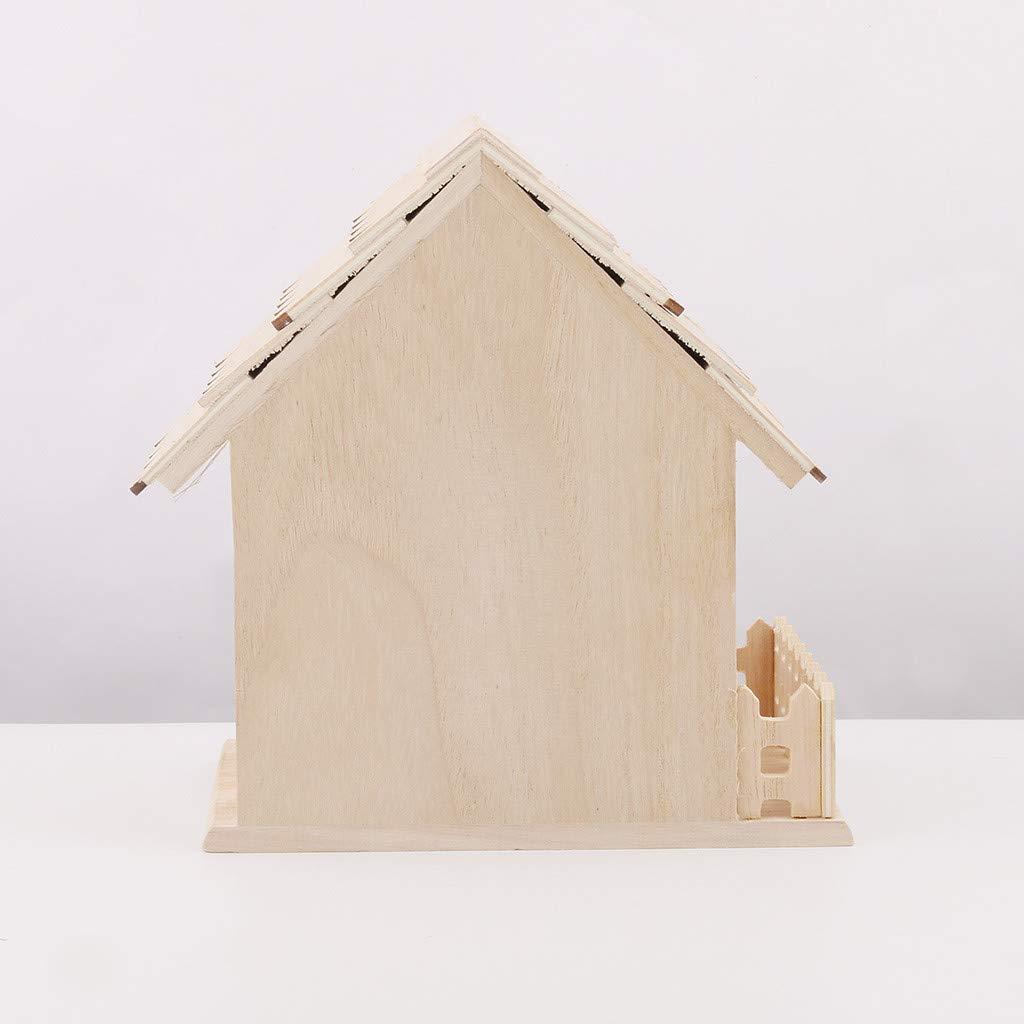 A Nest DOX Nest House Bird Box Wooden Box WaiiMak DIY Handmade Bird House
