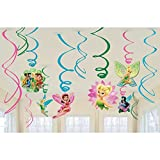 Tinker Bell & Fairies Swirl Decorations 12ct [Toy] [Toy]