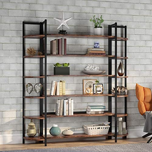 Tribesigns Modern Triple Wide 6-Shelf Bookcase Review