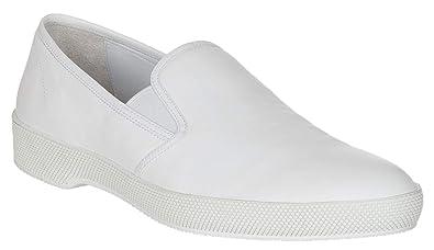 8da10f7fe7ed2 Amazon.com | Prada Men's 2OG051 White Leather Slip on Loafers Shoes ...