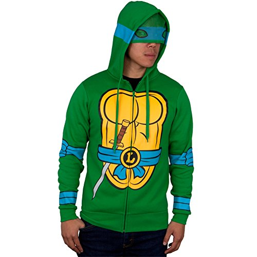 Teenage Mutant Ninja Turtles I Am Costume Zip Up Hoodie (Large, -
