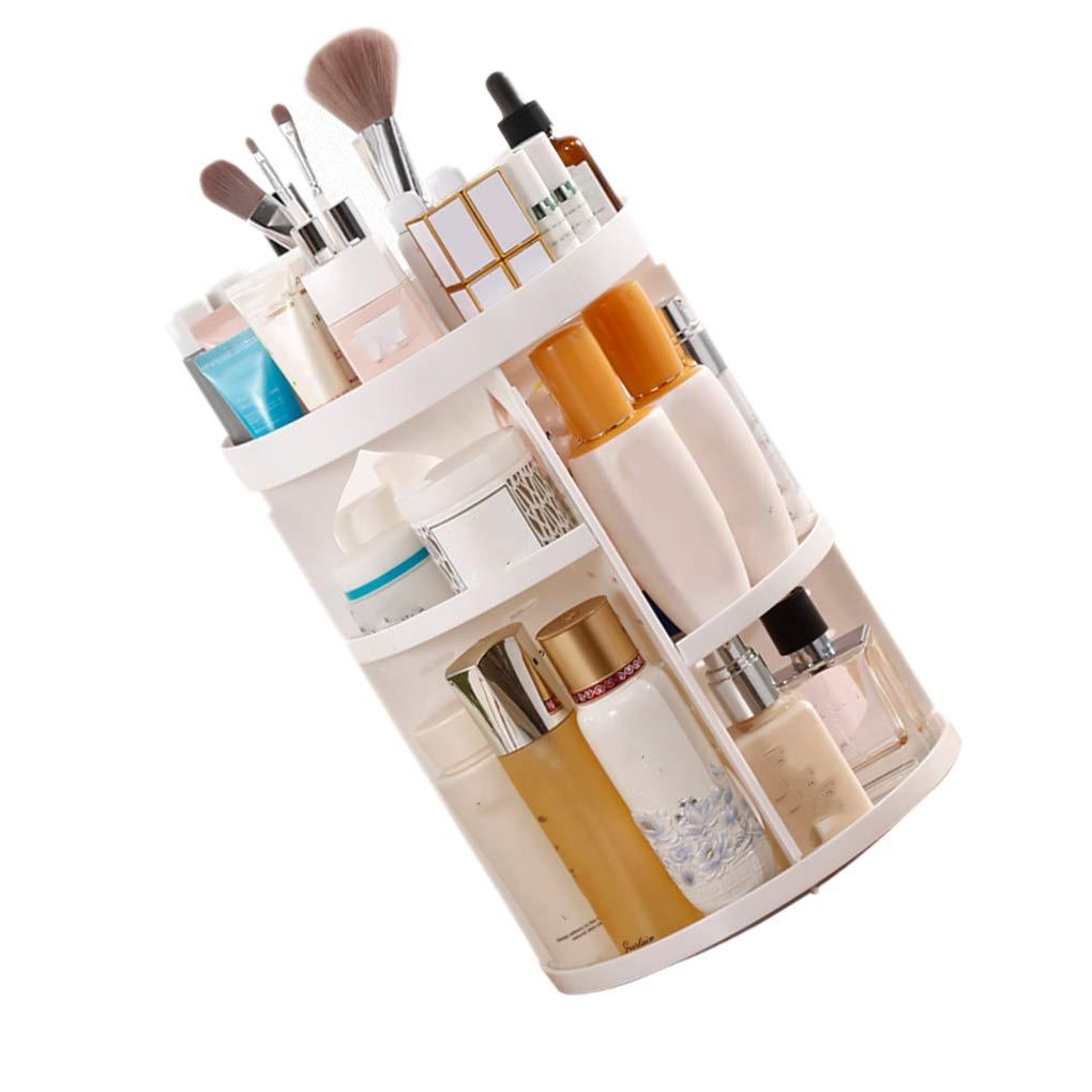 Zerama Rotating Makeup Organizer Brush Holder Jewelry Organizer Case Jewelry Lipstick Cosmetic Storage Box Shelf