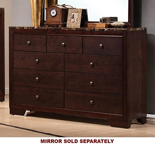 Conner 9-Drawer Dresser Cappuccino - Set includes: One (1) dresser Materials: Asian hardwood, Asian tropical wood and MDF Finish Color: Cappuccino - dressers-bedroom-furniture, bedroom-furniture, bedroom - 517Pf2Plt5L -