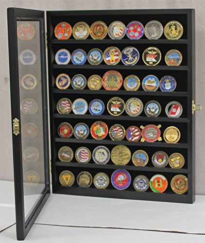 Challenge Coin Casino Chip Display Case Cabinet Holder