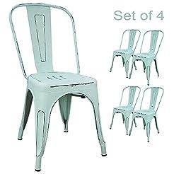 Devoko Metal Indoor-Outdoor Chairs Distr...
