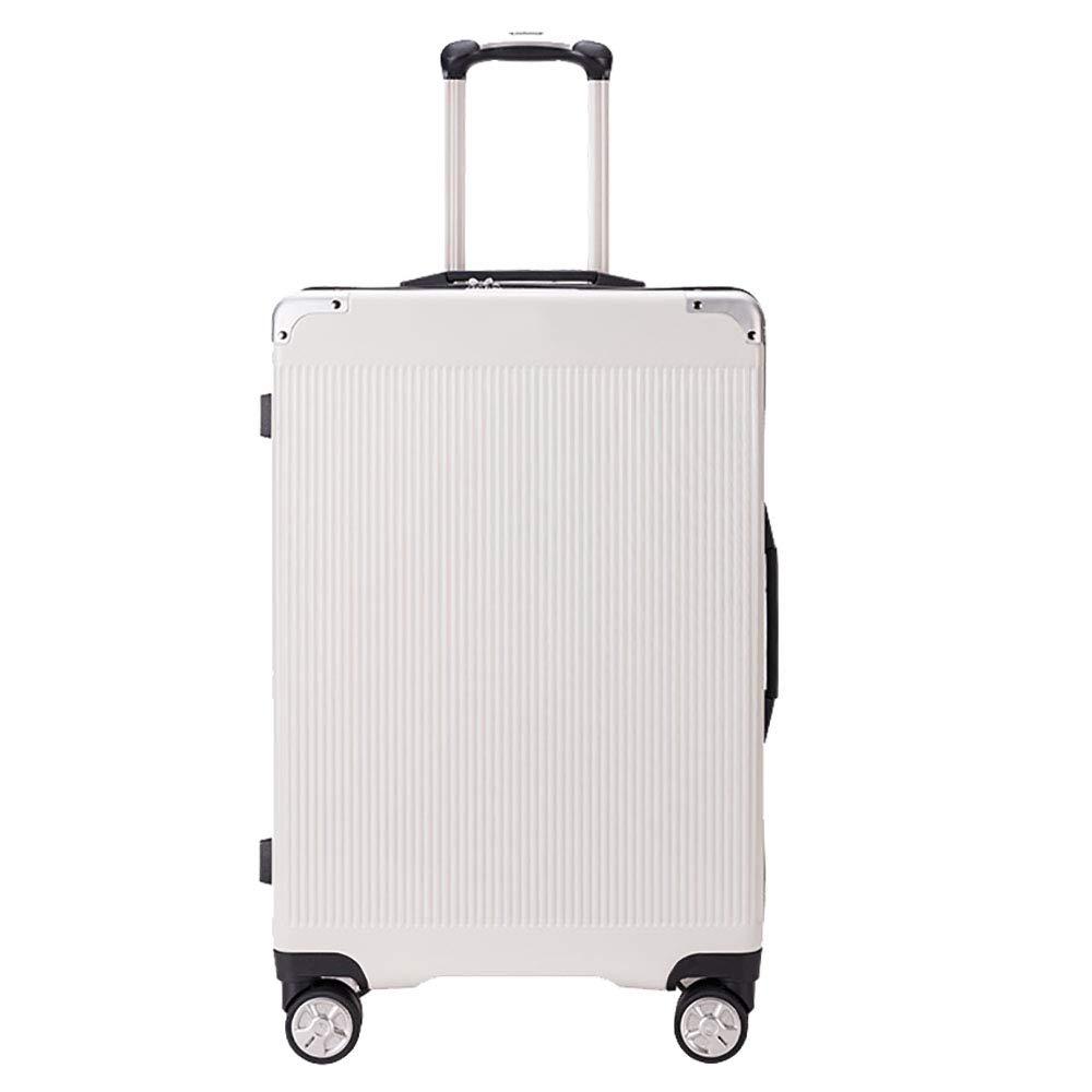 トロリーボックスPC大容量ポータブル出張ミュートキャスタースーツケース(ホワイト)   B07LH2BCRX