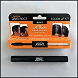 Gray Away Instant Hair Root Touch up and Concealer 7ml Dual Brush BLACK Color Free Shipping in USA Made by Keratin Research