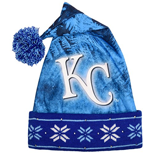 MLB Kansas City Royals Light Up Printed Santa Hat, One Size, (Chicago Cubs Santa Hat)