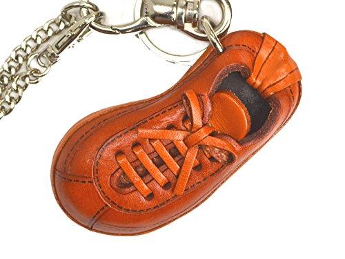 Sneaker Genuiine Leather Bag Charm/KeychainVANCA Handmade...