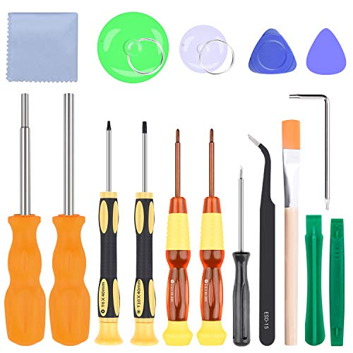 Screwdriver Set for Nintendo, 17in1 Precision Screwdriver Game Bit Repair Tool Kit Apply to Nintendo Switch/Wii/Wii U/DS/DS Lite/NES, Xbox 360, Gamecube, GBA and More Game Controller