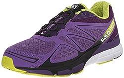Salomon Women's X-scream 3d W Trail Running Shoe, Rain Purplecosmic Purplegecko Green, 10 B Us