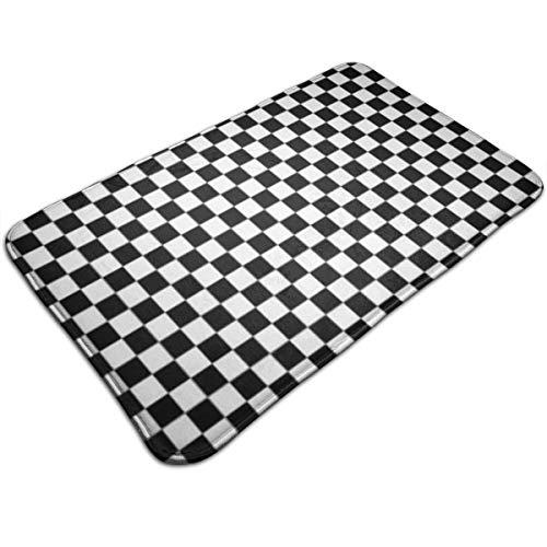 Xixioou Checkered Flag Computer Waterproof Indoor Outdoor Entrance Doormat Rug Floor Mats Shoe Scraper Doormat with Non Slip Backing,19.5x31.5 Inch