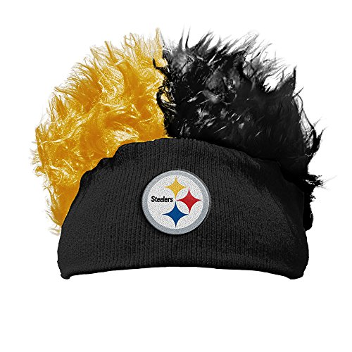 The Northwest Company Pittsburgh Steelers NFL Flair Hair Beanie (Black) by The Northwest Company
