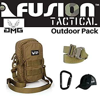 Image of Game Belts & Bags AMG & Fusion Outdoor Pack CYB, Great Carry-On Flight Approved Travel Bag, Outdoors, and on The Go, with Belt, Carabiner and Black Cap Included