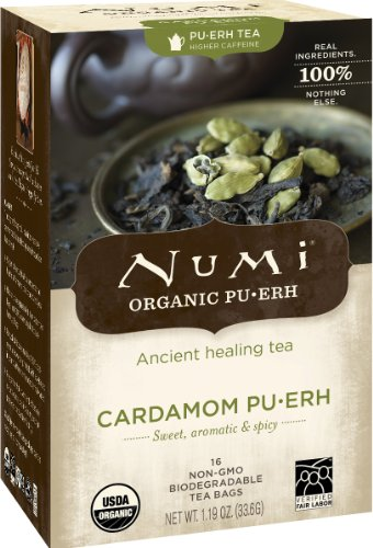 Numi Organic cardamome pu'erh sachets de thé, 16-Count, 1,19 oz.