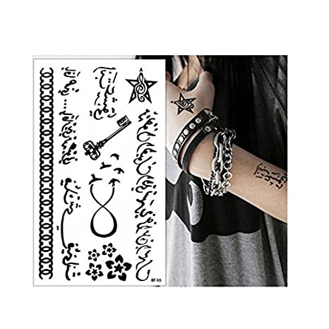 Amazon.com: Arabic Word Temporary Tattoos Bird Key Star ...