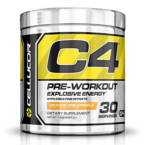 Cellucor C4 Pre Workout Supplements with Creatine, Nitric Oxide, Beta Alanine and Energy, 30 Servings, Orange Dreamsicle