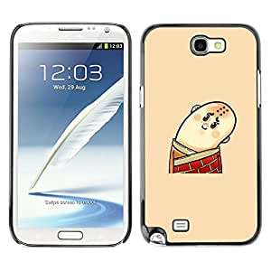 LASTONE PHONE CASE / Slim Protector Hard Shell Cover Case for Samsung Note 2 N7100 / Funny Bald Man